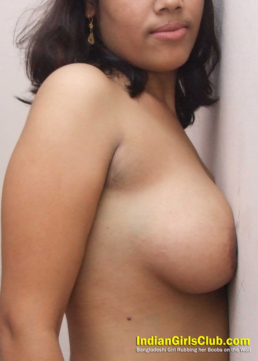 Bangladeshi Girl Rubbing Her Boobs On The Wall  Chudakkad -6935